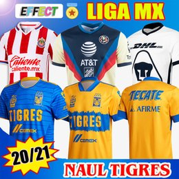 jersey soccer club NZ - 2020 2021 NAUL TIGRES Soccer Jerseys 20 21 MX Club Jersey Castillo Camiseta de foot GIGNAC Tigres Football Shirts