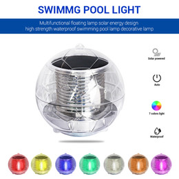 lights float water 2021 - LED Disco Light Swimming Pool Waterproof LED Solar Power Multi Color Changing Water Drift Lamp Floating Light