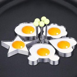 egg shaper UK - Fried Egg Rings Mold Stainless Steel Fried Egg Shaper Egg Pancake Shaper Maker Repeatable Fried Pancake Ring Kitchen Cooking Tool CLS570