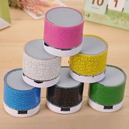 light cans speakers NZ - High Quality Mini Portable A9 Bluetooth Speaker With Led Light Can Insert U Disc ,Mobile Phone Player With Retail Box