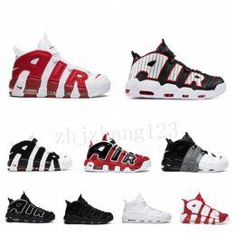 Ingrosso Nike Air More Uptempo [Con Box] bianco poco costoso nero più scarpe Uptempo UP Tempo di basket maschile Scottie Pippen pallacanestro scarpe, scarpe sportive Sneaker BQ3