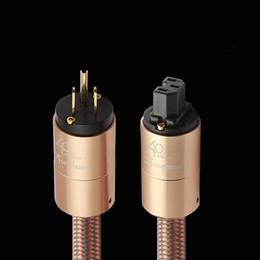 Wholesale hi standards online – design Cgjxs Hi End Power Cord Au Power Cable Hifi American Standard Audio Cd Amplifier Amp Eu Us Plug Power Line T200608