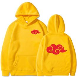 Wholesale naruto costume hoodie resale online - Naruto Akatsuki Cosplay Hoodies Men Women Streetwear Fleece Hooded Costume Uchiha Itachi Characte Sweatshirt Dropshipping