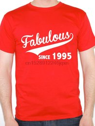 best mens t shirts UK - Make Your Own Logo Cheap Graphic T Shirts O-Neck Best Friend Mens Fabulous Since 1995 Birth Year Birthday Gift Shirts