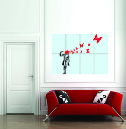 butterfly art painting Canada - Butterfly Suicide Banksy Giant Street Art Home Decoration Oil Painting On Canvas Wall Art Canvas Pictures For Living Room 200901
