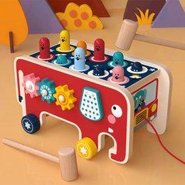 Juego de madera Whac-a-mole juego Montessori de aprendizaje Juguetes educativos Diversión Hit interior del juguete del juego del bebé Los niños juguete Hamster en venta