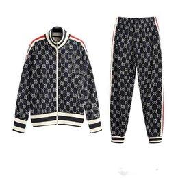 Wholesale couple sports suit resale online – 2020 new fashion men s sportswear suit baseball jacket men and women couple sports zipper pants suit ladies luxury sports pants S XL