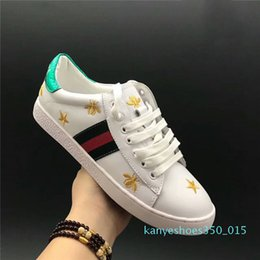 star shoes zapatos UK - designer luxury shoes Casual Shoes white mens women sneakers advanced material Bee flower snake heart love star Genuine Leather Zapatos k15