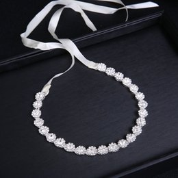 chain headdress wholesale UK - Bridal band headdress jewelry hair band handmade alloy Diamond-embedded soft chain hair accessories wedding accessories headdress