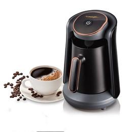 800W Automatic turco Cafeteira Máquina Cordless elétrica Coffee Pot Food Grade Moka Chaleira Máquina para o presente 220V em Promoção