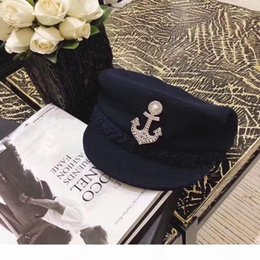 fashion anchor brooch Canada - Anchor style Brooch Fashion Advanced quality pin brooch for man and women lady brooches flannel bag for gift