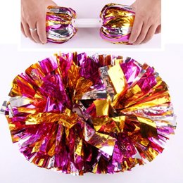 cheerleaders hand UK - New Party Carnival Cheering Pom Pom Plastic Handle Cheerleading Flower Dance Hand Ball Sports Vocal Concert Cheerleaders Ball event supplies