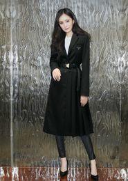 Wholesale trench coat women resale online - 2020 Milan Runway Trench Coats Lapel Neck Long Sleeve Brand Same Style Trench Coats Women Designer Coats
