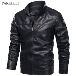 Wholesale mens yellow leather jacket for sale - Group buy Winter PU Leather Jacket Men Fashion Motor Biker Mens Jackets and Coats Warm Windbreaker Chaqueta Cuero Hombre Veste Hommes