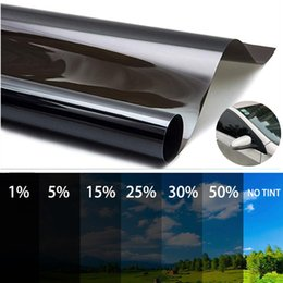 Discount tints for cars 300x50cm Black Car Window Tint Film Glass 5%-50% Roll Car Auto Window Tinting Film for Home Solar UV Protector Sticker