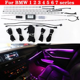 For BMW 1 2 3 4 5 6 7 series Car neon interior door ambient light 9 color decorative Atmosphere automatic conversion LED strip