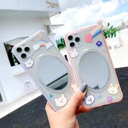 Wholesale iphone effects for sale - Group buy Luxury Cartoon Makeup Mirror Phone Case For iPhone Pro Max Case XS MAX XR X Plus Summer Mirror Effect Soft PC Cover Fundas
