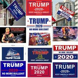 Wholesale Trump Flag Hanging 90*150cm Trump Keep America Great Banners 3x5ft Digital Print Donald Trump 2020 Flag 20 Colors Decor Banner