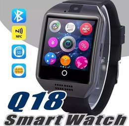 lg android sim card Australia - Bluetooth Smart Watch Q18 Wireless Smart Wristbands Nfc Remote Camera Sim Card Passometer For Ios  Android Samsung Htc Lg Smart Watch Sb -Q1
