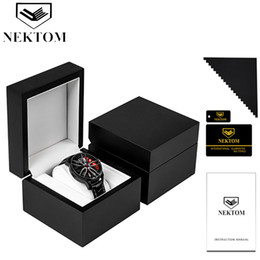 gift pack watch NZ - NEKTOM Men Watch Box Men Watch Gift Boxes Women watches Box Quartz Watch Packing For Friend Brother Boyfriend Gift Present CX200807