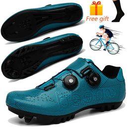 Vente en gros Professionnel SPD Cyclisme Chaussures Hommes Faire du vélo Chaussures VTT Chaussures Anti-patinage de Courses sur Route Bike Sport Autofreinés