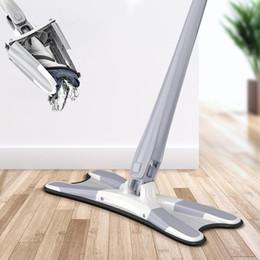Ingrosso MOP a pavimento tipo X con 3 pezzi riutilizzabili microfibra pastiglie a 360 gradi mop piatto per la casa Sostituire strumenti per la pulizia della casa di lavaggio a mano