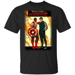 Falcon The Winter Soldier Comic Movie Film Black T-Shirt Men S 3Xl Cool Gift Personality Tee Shirt