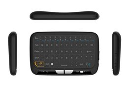 wireless keyboard for linux UK - 2017 Newest H18 Mini 2 .4g Wireless Keyboard With Full Touchpad Air Mouse Keyboard For Windows Android Tv Box Linux T95m X96 Mxq Pro