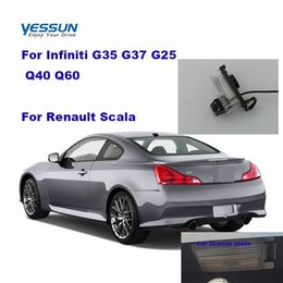 Wholesale HD Car Reverse Rear View Camera For Infiniti G35 G37 G25 Q40 Q60 For Scala license plate camera Housing Mount eN7Z#