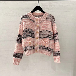 Wholesale vest tee shirt online – design high end women girls knit t shirt tops long sleeve sweater Cardigan jacket coat vest crew neck Jacquard sexy tank blouse shirts tee