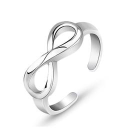 Alta calidad Sterling Silver Smart Anillo Moda Precio al Por Mayor AMOR infinito Tamaño Ajustable Tamaño de Alto Caldo Girls Infinity 925 Accesorios en venta