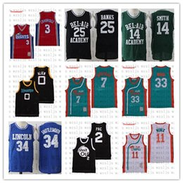 Wholesale movies 25 online – design Men s Movie Basketball Jersey Banks Smith Monix Coffee Black Moon Outdoor Comfortable and Breathable Sports Jersey