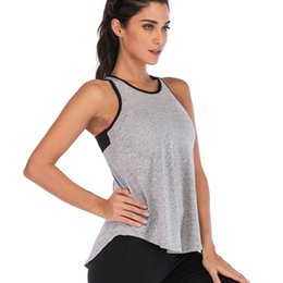 wholesale yoga pants UK - Cdhzj Spring and Summer new vest sexy mesh breathable yoga clothing Exercise exercise yoga clothes sports fitness slim fit sports fitness cl