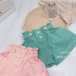 Wholesale girls elastic jeans resale online - Quality INS Kids Girl Jeans Shorts Pants Elastic Straps Pockets Style New Summer Children s Denim Short Pantalones Cortos Kids Hot Pant