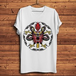 streetwear china NZ - China traditional dragon Totems vintage t shirt men summer new white casual tshirt unisex short sleeve streetwear tee