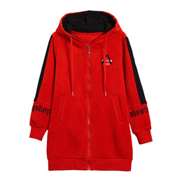 winter warm hoodie zip up NZ - Women Thick Fleece Hoodie Sweatshirts Winter Fashion Velour Oversize Ladies Pullovers Warm Pocket Hooded Zip-up Jacket CX200808