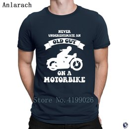 Wholesale motorbike t shirt for sale – custom Never underestimate an old guy on a motorbikes tshirt Pictures create summer T Shirts solid color HipHop Top