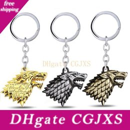 resin keychain UK - 2018 Game Of Thrones Keychain House Stark Key Chain Song Of Ice And Fire Key Rings Holder Souvenir For Gift Chaveiro Men Jewelry