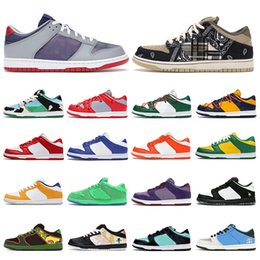 panda fabrics Canada - New Mens Sneakers Running Shoes Chunky Dunky University Red Pine Green Bears Orange Game Royal Viotech Plum Panda Pigeon Womens Trainers