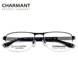flex glasses NZ - Charmant Adjustable Glass Frame for Men High End Titanium Eye Glass Multifocal Myopia Flex Man Optical Spectacles Frame CH12305