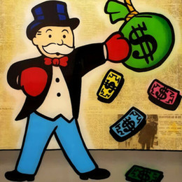 box painting oil NZ - Alec Monopoly Graffiti art wall decor Money Boxing Home Decor Handcrafts  HD Print Oil Painting On Canvas Wall Art Canvas Picture 20082
