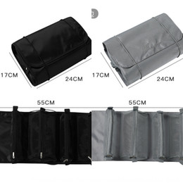 piece cosmetic bag set Australia - EnBdT Four-in-one folding cosmetic four-piece storage Four-piece set of 4 Storage bag set of 4 bag portable large capacity roll type four-op