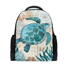 Wholesale turtle boy for sale – custom Children Backpack Comfortable Kids Toddler School Bags Dolphins Turtle Pattern Kindergarten Preschool Bag Schoolbag for Gril Boy