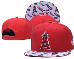 angels snapback hats 2020 - New Arrival Men's Angels Snapback Hats Navy Blue Color Embroidered Letter Team Logo Brand Hip Hop Sports Baseball A