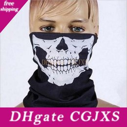mask for bicycle Australia - Halloween Skull Party Mask Masquerade Skeleton Masks Multifunction Outdoor Motorcycle Bicycle Neck Warmer Ghost Half Face Mask Scarves