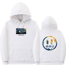 Wholesale van hoodie for sale – custom Van Gogh Starry Night Print Fleece Hoodies Sweatshirts Streetwear Men Hip Hop Pullover Hooded Tops Male Harajuku Jumper Hip hop
