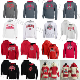 capucha ohio al por mayor-Universidad Estatal de Ohio Buckeyes hockey sudaderas Jerseys Elliott Bosa C Jones BARRETT B Miller Sudadera con capucha Sudaderas