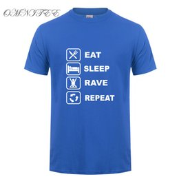 rave t shirts NZ - New Eat Sleep Rave Repeat T Shirt Summer Style Men Short Sleeve O-Neck Game T Shirt Cotton Fashion Hip Hop Men Tops Tee