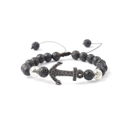 Discount string life New Style Natural Volcanic Stone anchor Micro Inlaid With Haoshi Love Life Tree Energy Bracelet Hand Woven String Adjust