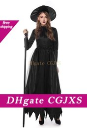 funny costumes women Australia - Halloween Women Cosplay Dress Witch Theme Costume Female Funny Sexy Evening Party Stage Clothes Devil Costume Witch Costume Vampire Party